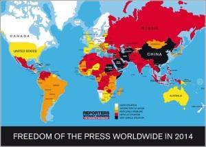Mapa de la libertad de prensa en el mundo